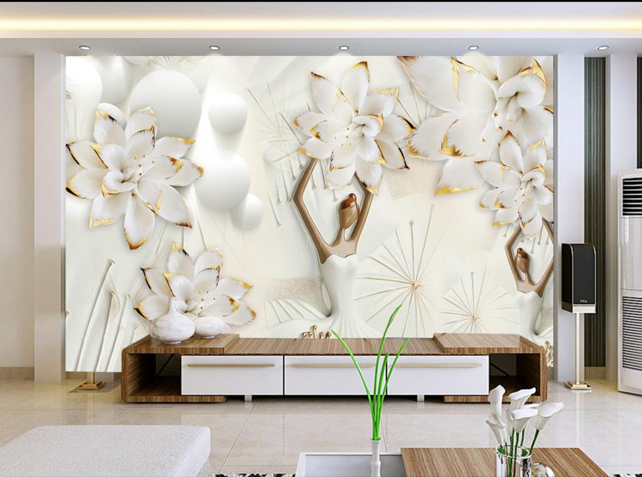 European photo wallpaper mural flowers relief 3d stereoscopic wallpaper for living room bedroom book knowledge power channel creative 3d large mural wallpaper 3d bedroom living room tv backdrop painting wallpaper