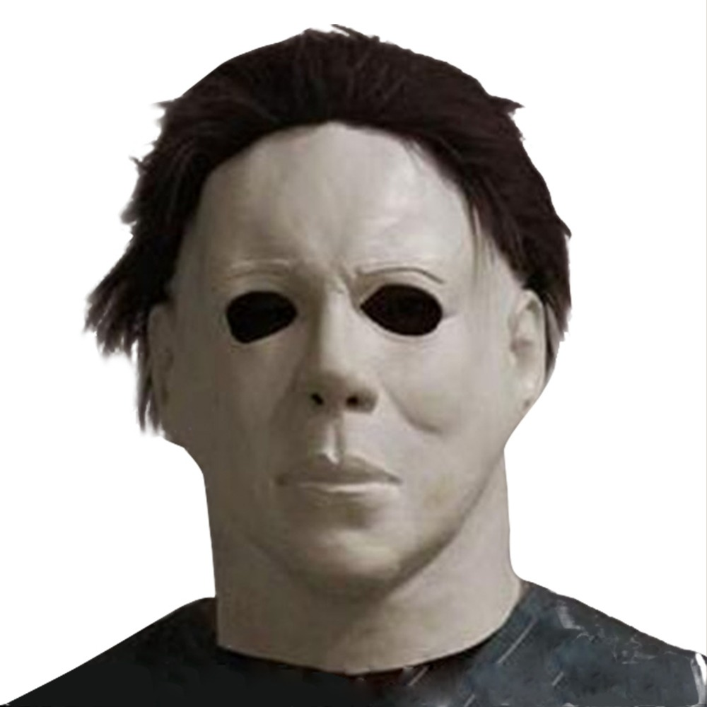 Hot Movie Cos Mask Horror Michael Myers Mask Scary Movie Halloween Cosplay Adult Latex Party Face Mask Helmet Carnival Props