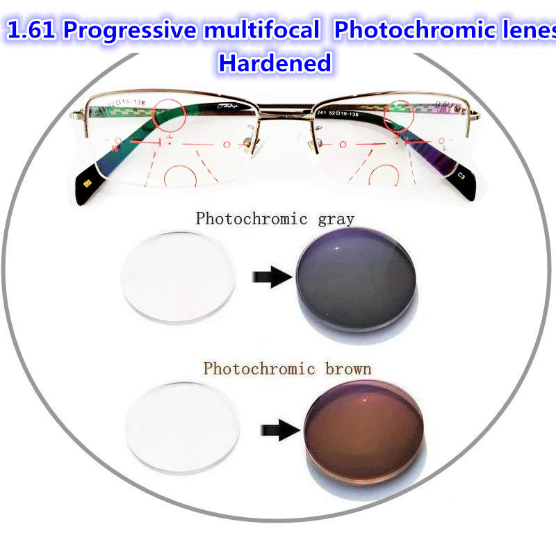 langford 1 61 1 67 index interior Progressive multifocal Photochromic lenes Especially hardened can be handmade