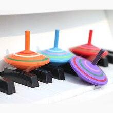 Традиционный деревянный цвет волчок, детские игрушки