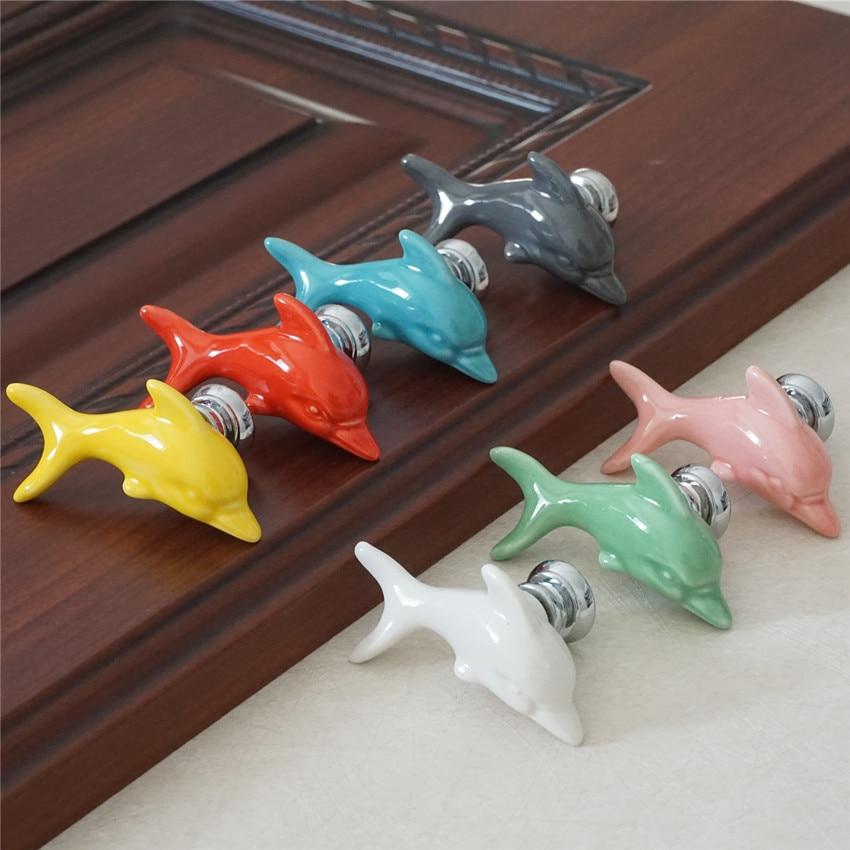 Dolphin Shape Door Handle Brass Handmade Nautical Them Restaurant Door Handle