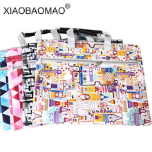 Cartoon Solid A4 Big Capacity Document Bag Briefcase Storage File Folder for Papers Stationery Student Gift