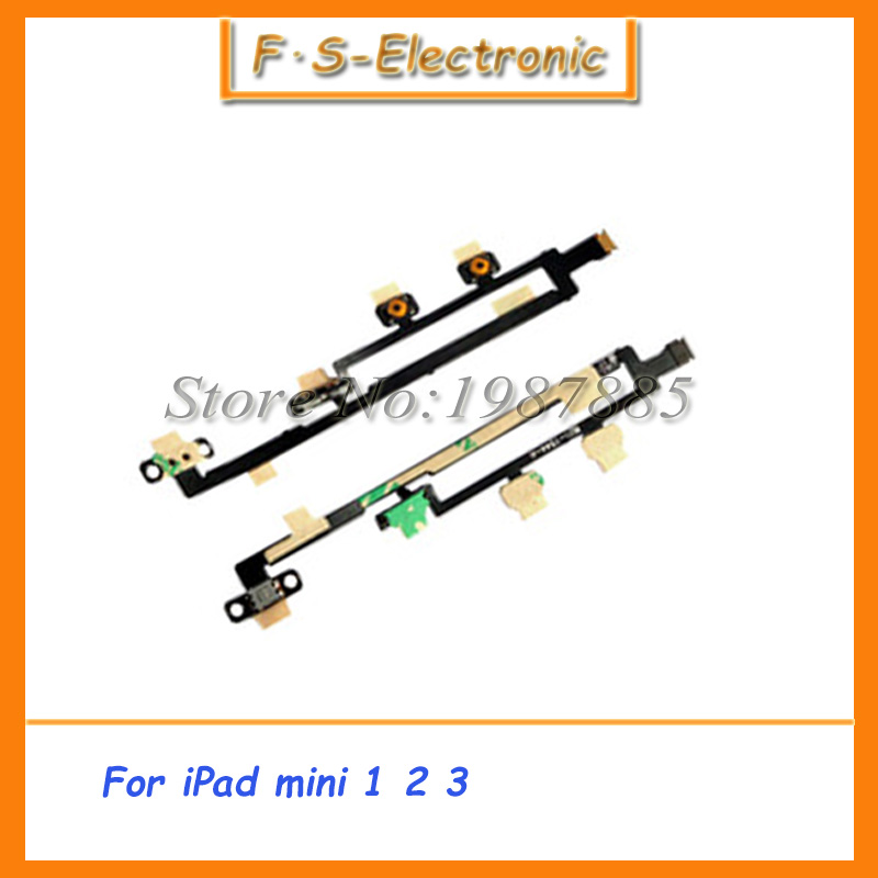10 шт./лот Новый высокое качество питания на кнопку включения/выключения и переключатель громкости гибкий ленточный кабель для IPad Mini 1 2 3 Заме...
