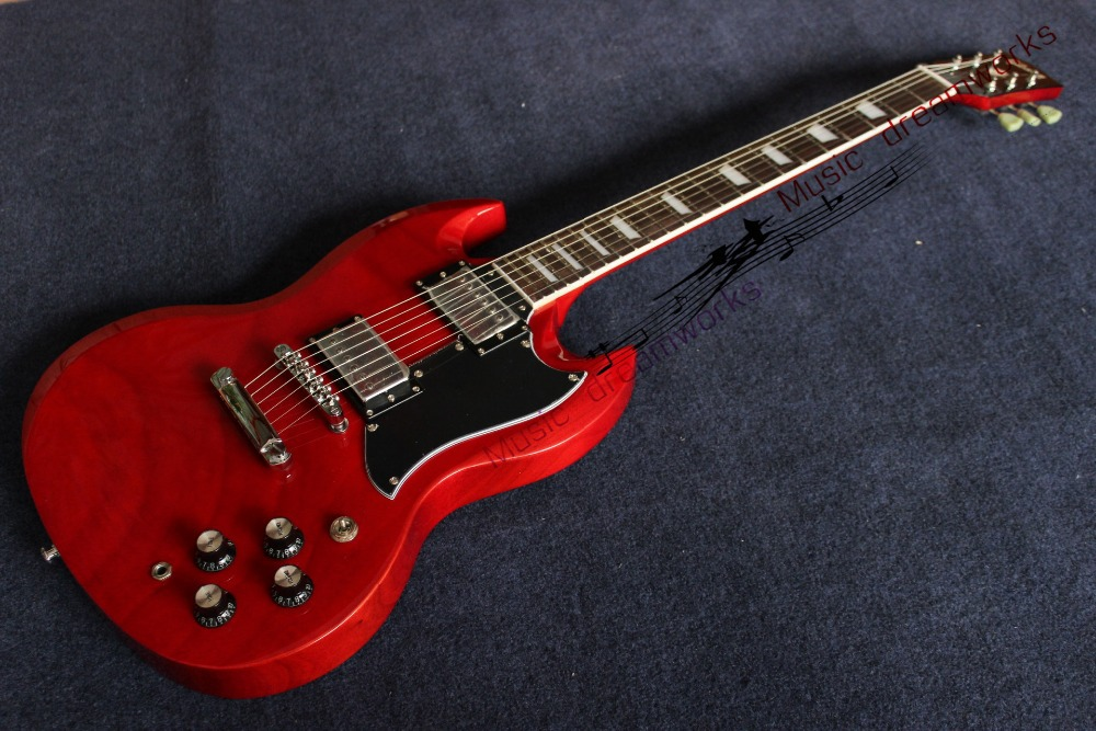 China's guitar firehawk G SG guitar electric guitar Light cherry red A piece of wood of the neck High quality mahogany