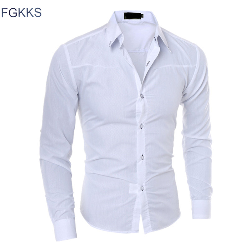 Plaid Cotton Dress Men's Shirt