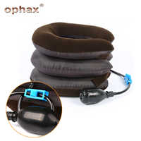 OPHAX 3 Layer Inflatable Air Cervical Neck Back Traction Device For Pain Relief Neck Head Stretcher Pillow Pain Release Massage