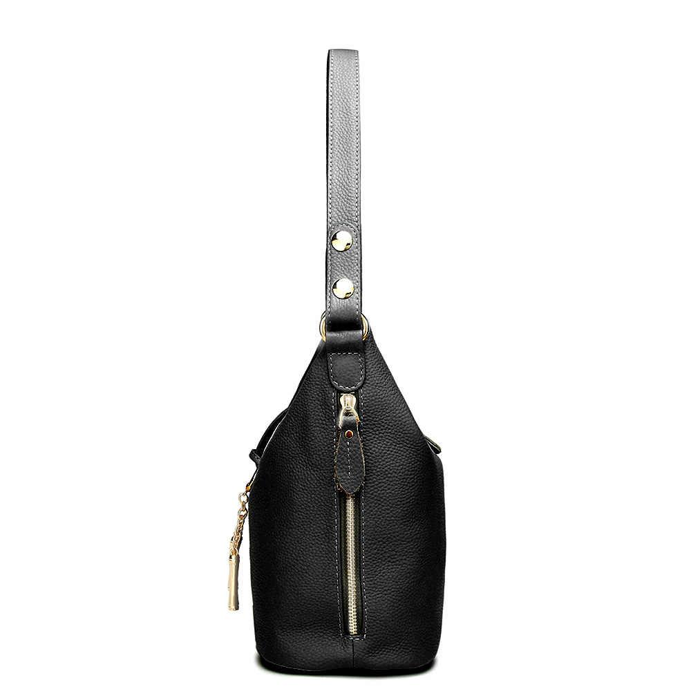 498bcad6ec7d ... 2018 новые модные дизайнерские для женщин сумка с металлической  кисточкой 100% натуральная кожа Дамы Crossbody ...