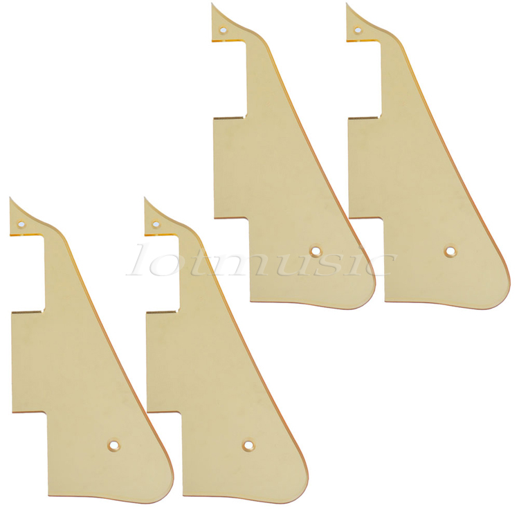 4Pcs Electric Guitar Pickguard Fit for Electric Guitar Gold Mirror Replacement niko pack of 50pcs chrome black gold guitar pickguard mounting screws 3 12mm for st tl lp sg electric guitar bass