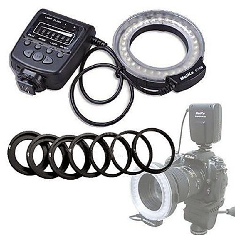 High Quality Meike LED Macro Ring Flash Light FC-100 Untuk Canon Nikon D7100 D7000 D5200 D5100 D5000 D3200 D310