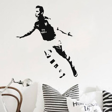 цена на Art design cheap vinyl home decoration Alexis Sanchez wall sticker removable house decor football player wall decals for bedroom