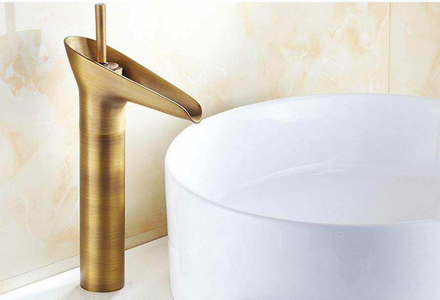 Free Shipping Modern Basin Faucet Open Spout Water Tap Bathroom