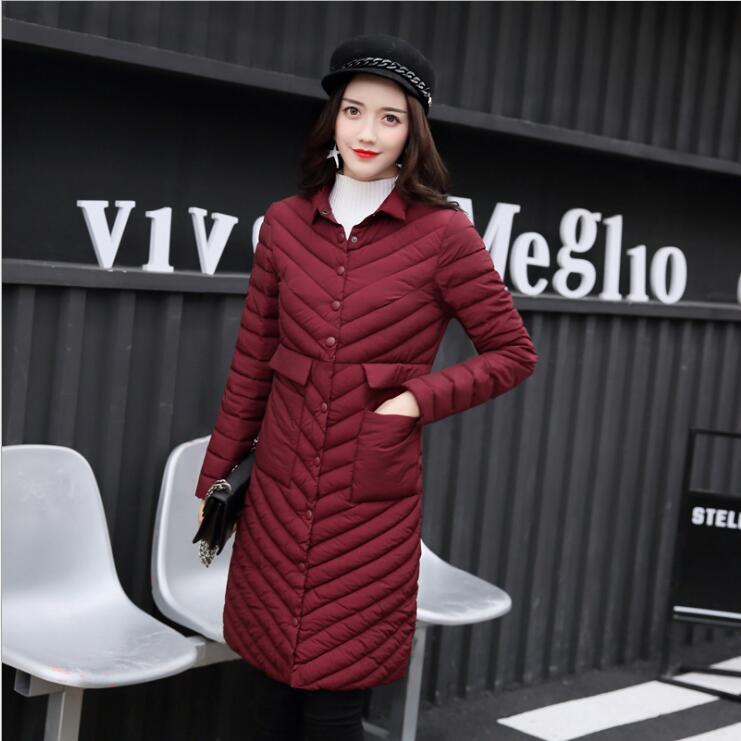 2017 new Korean version of the cotton dress female Slim was thin  jacket large size was thin fashion ladies cotton warm tide the other side of the road new extended version cd