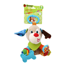Baby Stroller Hanging Toys,Soft Plush Animal Bell Rattle Teether Wind Chimes Stroller Musical Educational Toys