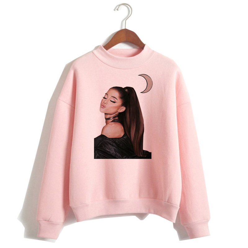 Ariana Grande Sweatshirt 19 No Tears Left To Cry Hoodie Women Print God Is A Woman Sweatshirts Pullover hoodies Harajuku 13