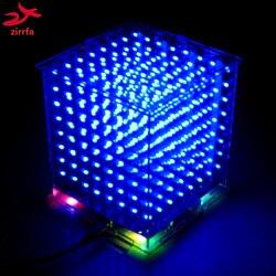 رائجة البيع ثلاثية الأبعاد 8S 8x8x8 مصباح led صغير الإلكترونية cubeads لتقوم بها بنفسك عدة هدية الكريسماس/هدية السنة الجديدة