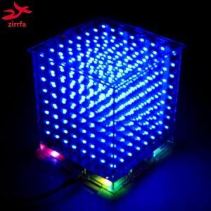 Image 1 - Gorąca sprzedaż 3D 8S 8x8x8 mini led światło elektroniczne cubeeds diy zestaw na prezent na boże narodzenie/noworoczny prezent