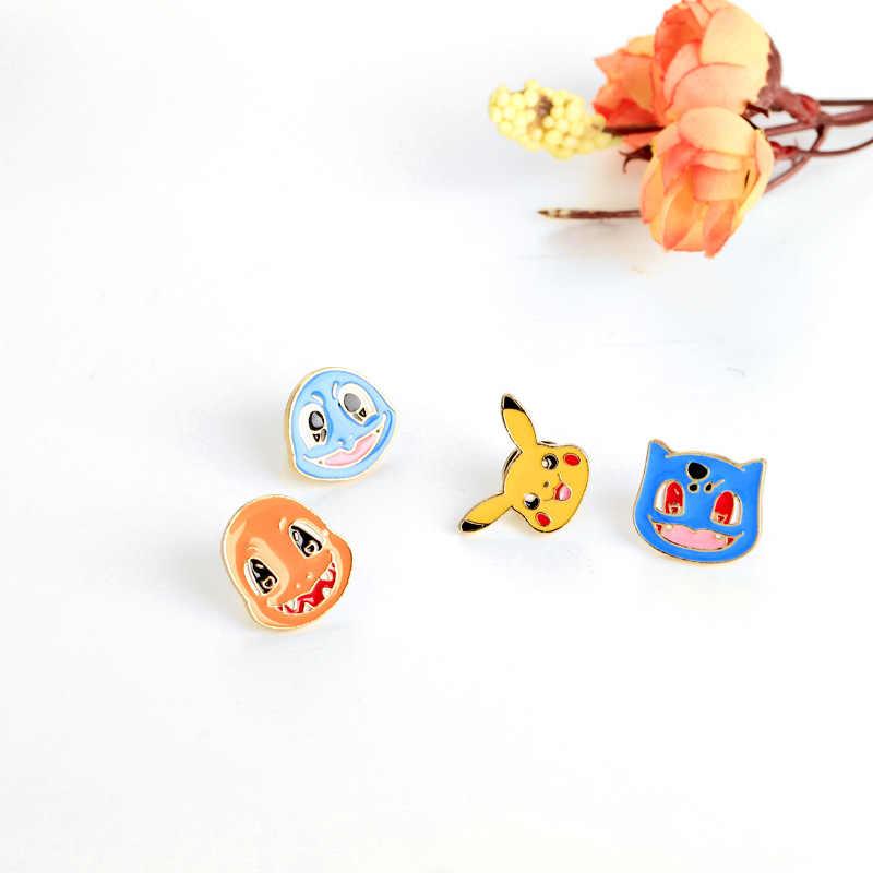 Pokemons pin Piccolo drago di fuoco Pikachu Jenny Tartaruga animale Smalto pin Risvolto spille badge zaino Regalo per l'amico dei bambini