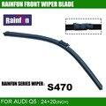 Rainfun dedicado lâmina de limpeza do carro para audi q5 (08-), hot-venda do limpador com 24 + de 20 polegadas em uma caixa, de alta qualidade com borracha natural