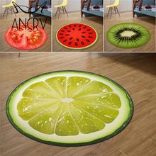 3D ковер с фруктовым принтом для комнаты, мягкий ворсистый ковер с лимоном, арбузом, декоративный коврик для спальни, коврик для пола VQA9554