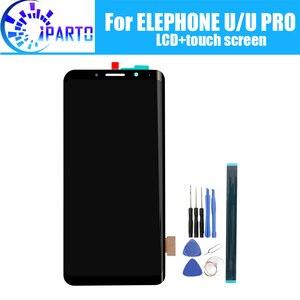 Image 1 - Elephone U ЖК дисплей + сенсорный экран 100% оригинальный протестированный ЖК экран дигитайзер стеклянная панель Замена для Elephone U PRO