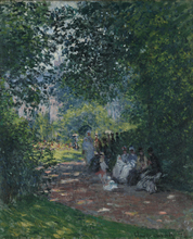 High quality The Parc Monceau Monet Painting  Wall Art Printed On Canvas Reproduction Custom