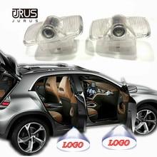 JURUS 2Pcs Car Logo Door Welcome Light LED Lights Lamp Projector Laser For Renault Koleos 2009-2015 Accessories
