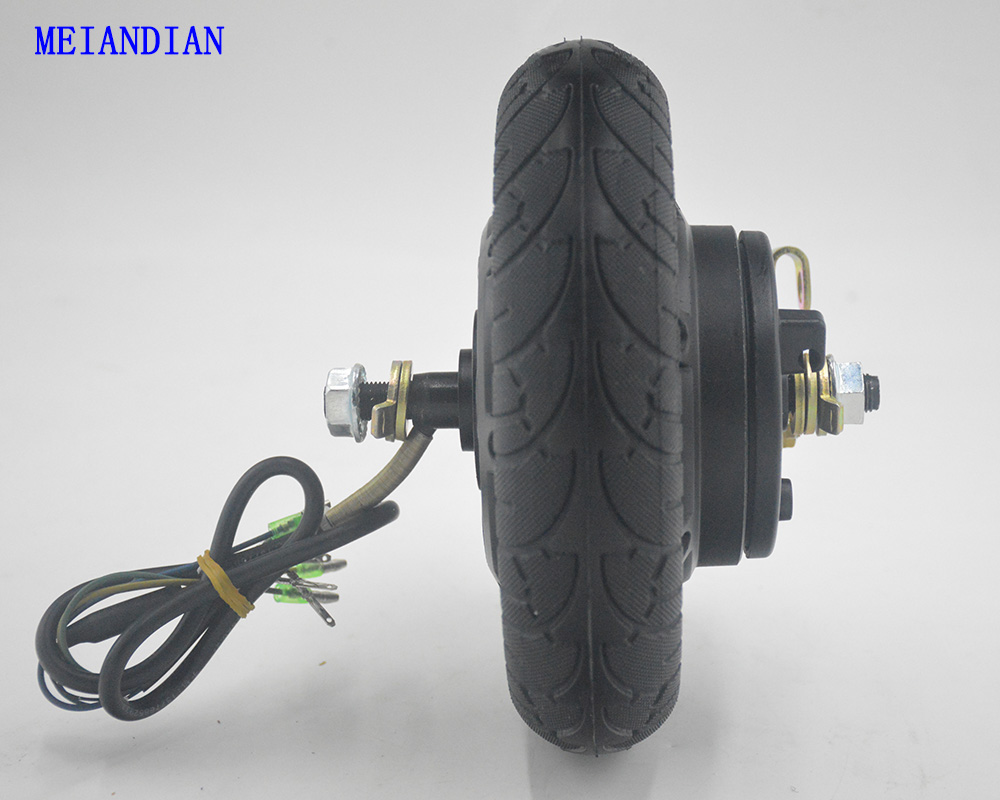 Electric Scooter Hub Wheel Motor 24V 36V 48V 350W DC Brushless Toothless 8inch Wheel Motor E-Scooter Wheel Bicycle Motor Wheel