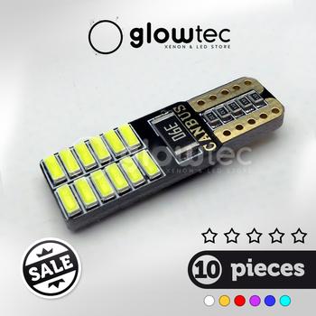 10 sztuk CANBUS T10 24smd żarówka LED samochód bez błędu 3014 12V Super bright lampa żarówka biały żółty niebieski czerwony tanie i dobre opinie GLOWTEC Turn Signal T10 (W5W 194) 12 v 0 01 Uniwersalny External Lights Clearance Lights