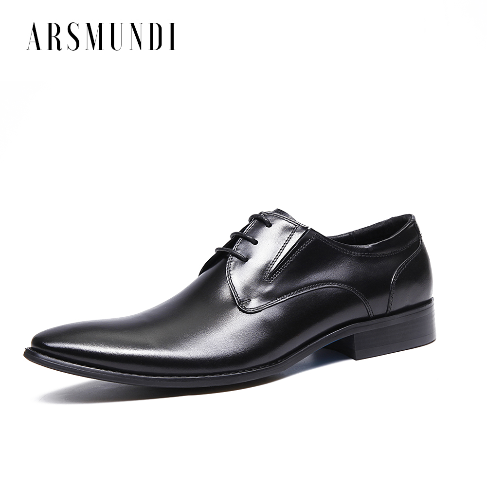Men Genuine Leather Derby Shoes Slip on Cowhide Leather Lace-up Pig Inner Pointed Toe Dress Wedding Business Shoes 2018 NewMen Genuine Leather Derby Shoes Slip on Cowhide Leather Lace-up Pig Inner Pointed Toe Dress Wedding Business Shoes 2018 New