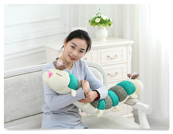 middle lovely plush Caterpillar toy green Caterpillar design pillow gift about 120cm 2939