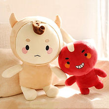 28CM Korean Dolls Alone And Brilliant Ghosts And Ghosts Kong Yu with Buckwheat PP Cotton Dolls Bedroom Decoration Plush Toys(China)