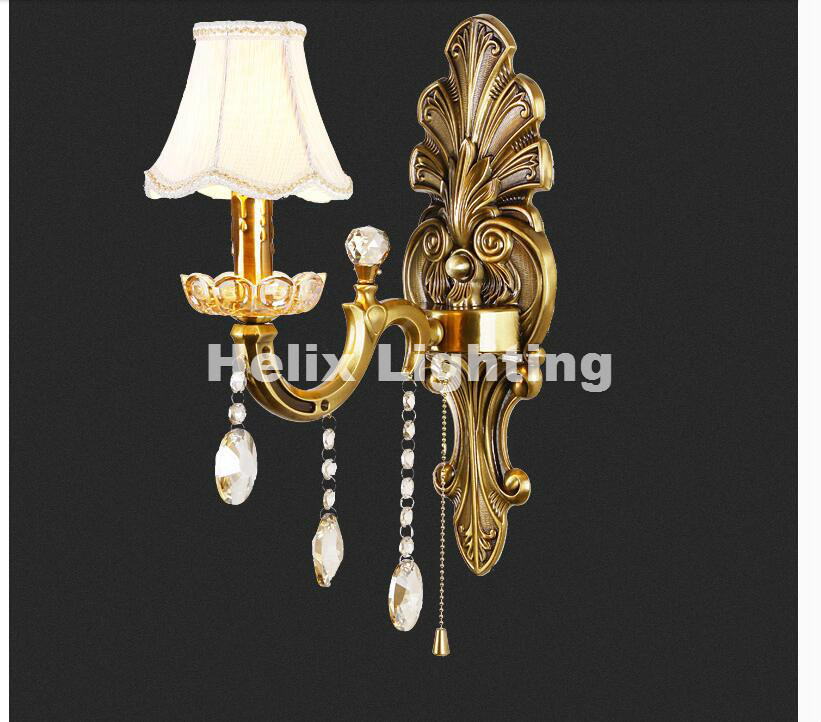 Free Ship! Brass E14 European Classical Golden Brass Wall Lamp Brass Wall Sconce With Glass Shade Modern Brass wall lamp Lustre ts100 mini programmable smart digital lcd adjustable temperature electric electric soldering iron soldering station 7pcs tips