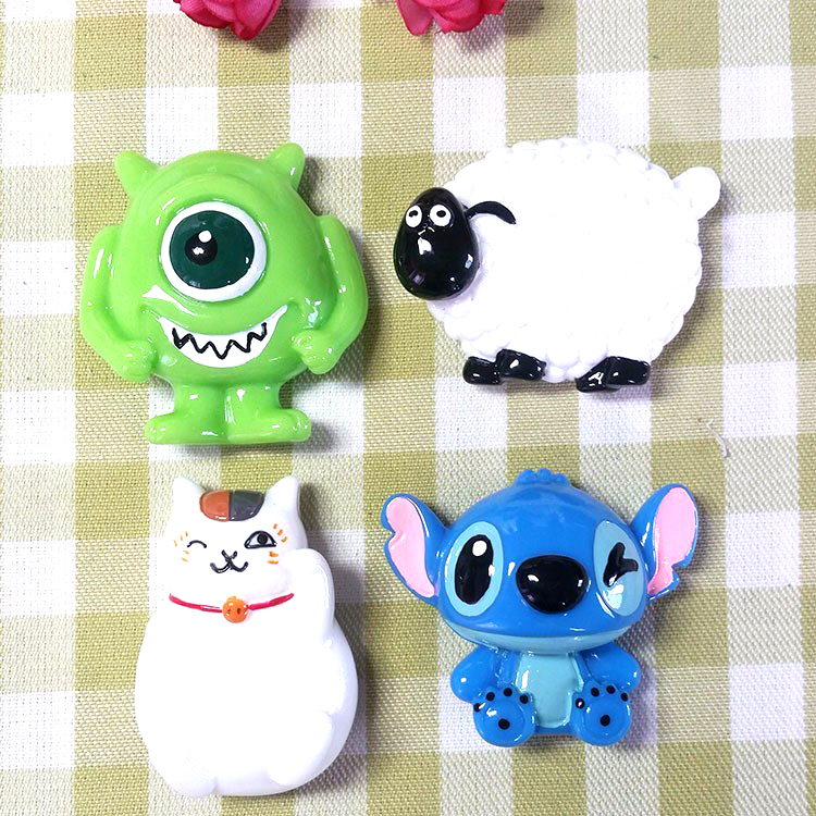 (5 pieces/ lot) Creative cartoon character resin refrigerator