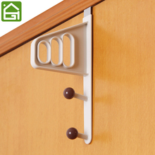 3 Layers Door Back Clothing Hanger Living Room Bedroom Hook for Storage Hats Bags and Clothes(China)