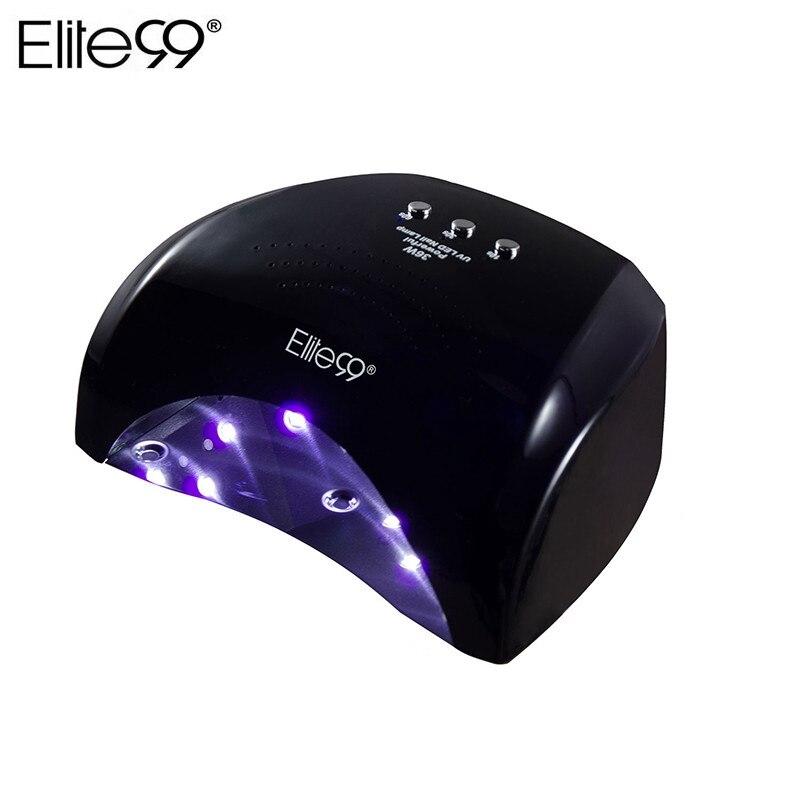 Elite99 36 Вт светодио дный лампы ногтей сушилка для лечения Ногтей Гель Лаки Nail Art Маникюр Инструмент США Великобритании ЕС разъем АС лак для но...