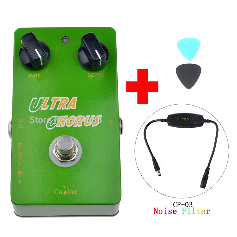 Caline CP-28 Ultra Chorus Guitar Effect Pedal True Bypass Guitar Accessories and Caline CP-03 Noise Filter aroma ach 1 true bypass guitar electric effect pedal chorus low noise metal effectors guitar parts
