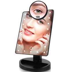22 Светодиодный Фонари сенсорный экран макияж зеркало 1X 10X Настольный столешница яркий регулируемый USB кабель или батареи Применение 16 огни