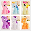 1pc 15cm my cute lovely little horse Plush poni Unicorn doll toys for Children for baby Christmas soft dolls Stuffed Toys