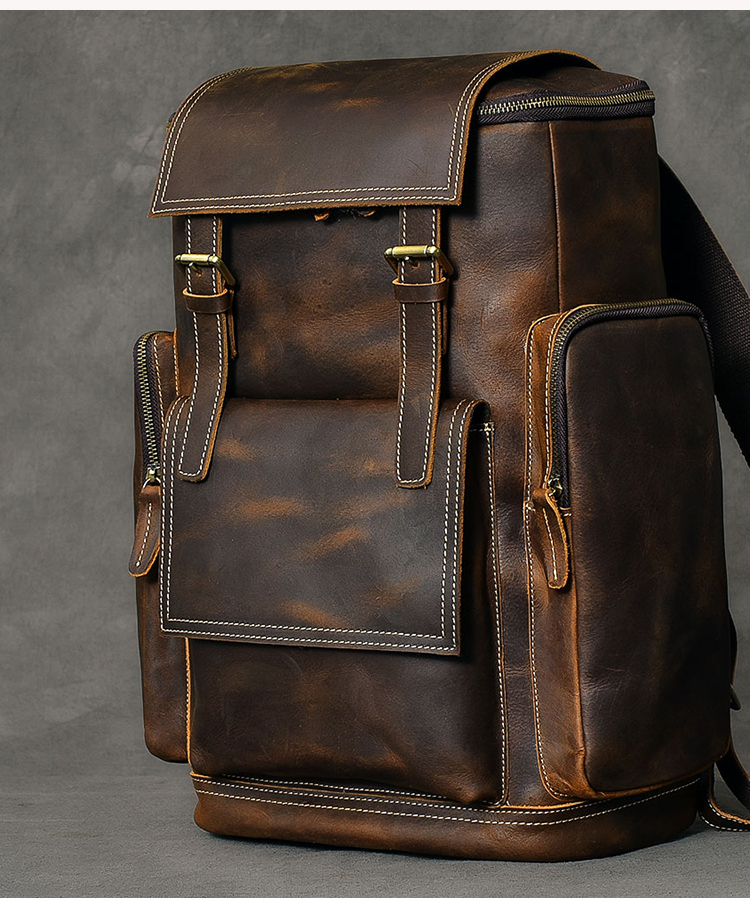 hore luxurious leather backpack