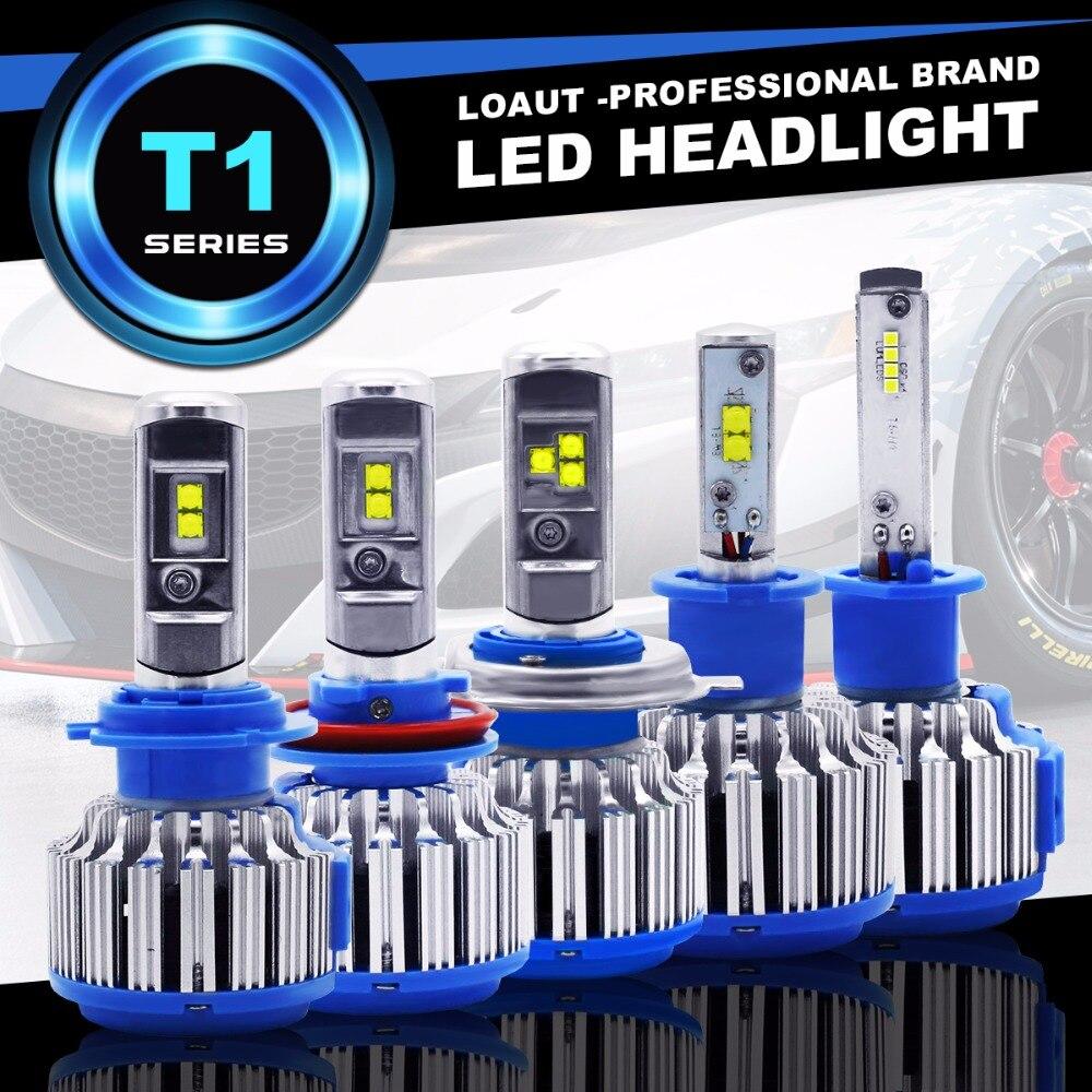 2018 New Plug&Play T1 turbo Led Car Headlight H1 H3 H4 H7 H8 H9 H11 9004 9005 9006 880 881 DRL Daytime Running Light canbus lamp