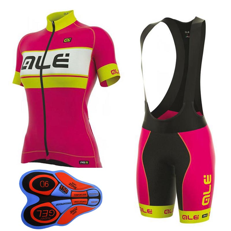 Women Summer Short Sleeve Set Jersey Cycling Pro Quick dry Clothes Cycling Bike Jersey Bicycle Clothes Silicon Gel Pad set