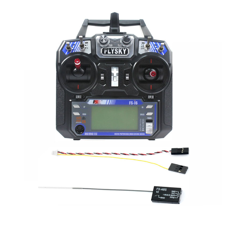 FS-i6 6CH 2.4G AFHDS 2A LCD Transmitter Radio System w/ FS-A8S V2 Receiver for Mini FPV Racing Drone RC Quadcopter jmt kingkong et100 rtf brushless fpv rc racing drone with flysky fs i6 6ch 2 4g transmitter radio system mini quadcopter