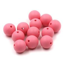 JOJOCHEW 100pcs 9mm-19mm Sakura қызғылт Ыстық жаңа силиконовые Baby Teething Beads BPA Free Round Cuentas de silicona Jewelry Making