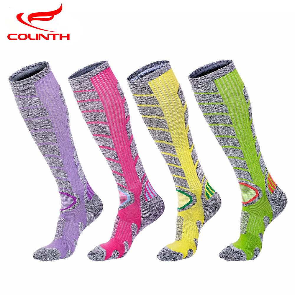 Men Women Skiing Socks Professional Socks Cotton Calcetines Compression Hiking Climbing Skating Socks Soft Thickened meias