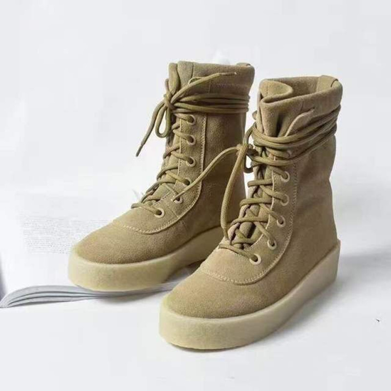 Autumn/Winter Cross-tied Round Toe Suede Flat Women Motorcycle Boots Black High Top Botas Femeninas Ankle Punk Martin Boots ankle black solid cross tied winter martain boots zipper design suede british style botas femeninas walkway casual shoes women