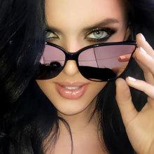 2019 moda kolor luksusowe płasko zakończony kocie oko eleganckie okulary kobieta óculos De Sol mężczyźni Twin Beam ponadgabarytowych okulary UV400 tanie tanio Cat eye Antyrefleksyjną Gradient Stop Kobiety Dla dorosłych Poliwęglan 57MM 61MM 9040 GUANGDU Women Female Girl man Fashion Luxury Oversized Eyewear