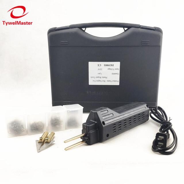 Grapadora caliente para reparación de parachoques de coche, guardabarros, Kit de reparación de plástico, soldador de carenado, máquina de soldadura de plástico portátil
