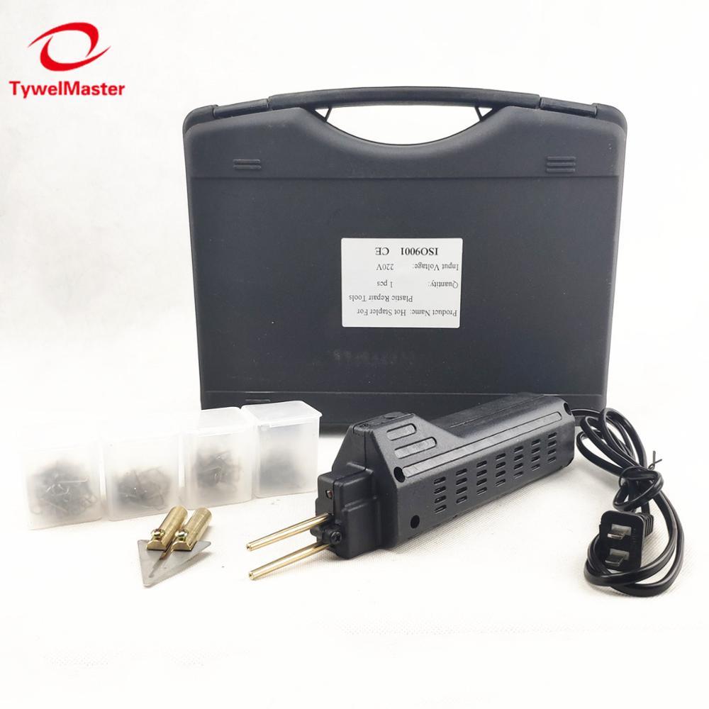 Hot Stapler For Repairing Car Bumper Fender Fairing Welder Plastic Repair Kit Portable Plastic Welding Machine