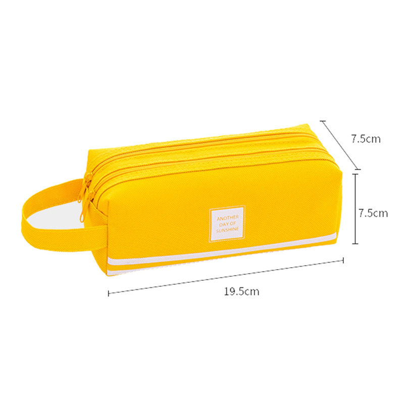 Creative Double Zipper Pencil Case Kawaii Pencil Cases Large Pen Box Big For Girls Gifts Cute School Bag Stationery Supplies in Pencil Bags from Office School Supplies