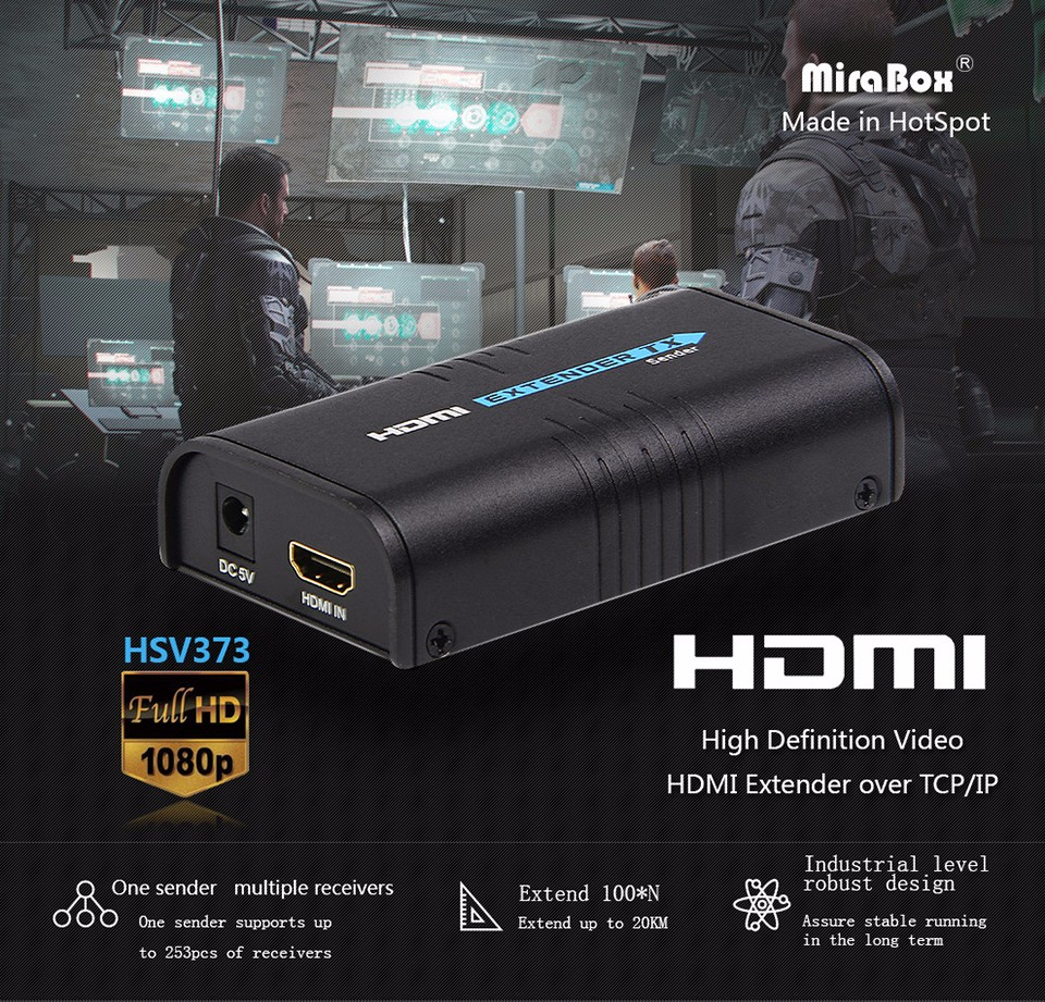 RX 120m HDMI extender over TCP/IP UTP/STP CAT5e/6 Rj45 LAN HDMI splitter support 1080p HDMI extender work like hdmi splitter
